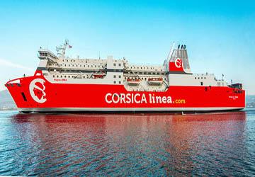 commentaire du ferry paglia orba de corsica linea et description du navire. Black Bedroom Furniture Sets. Home Design Ideas