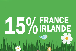 Offre Flash: 15% de reduction vers l'Irlande